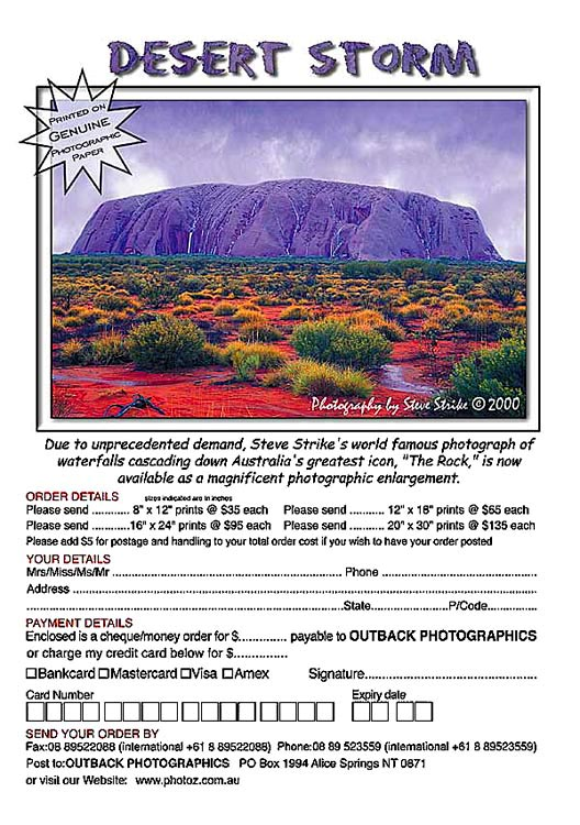 WELCOME TO STEVE STRIKE'S OUTBACK PHOTOGRAPHICS